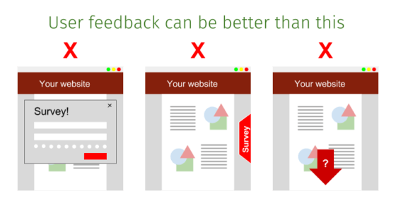 Three bad types of traditional user feedback